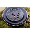 ASSIETTE GALAXY POIS BLANCS
