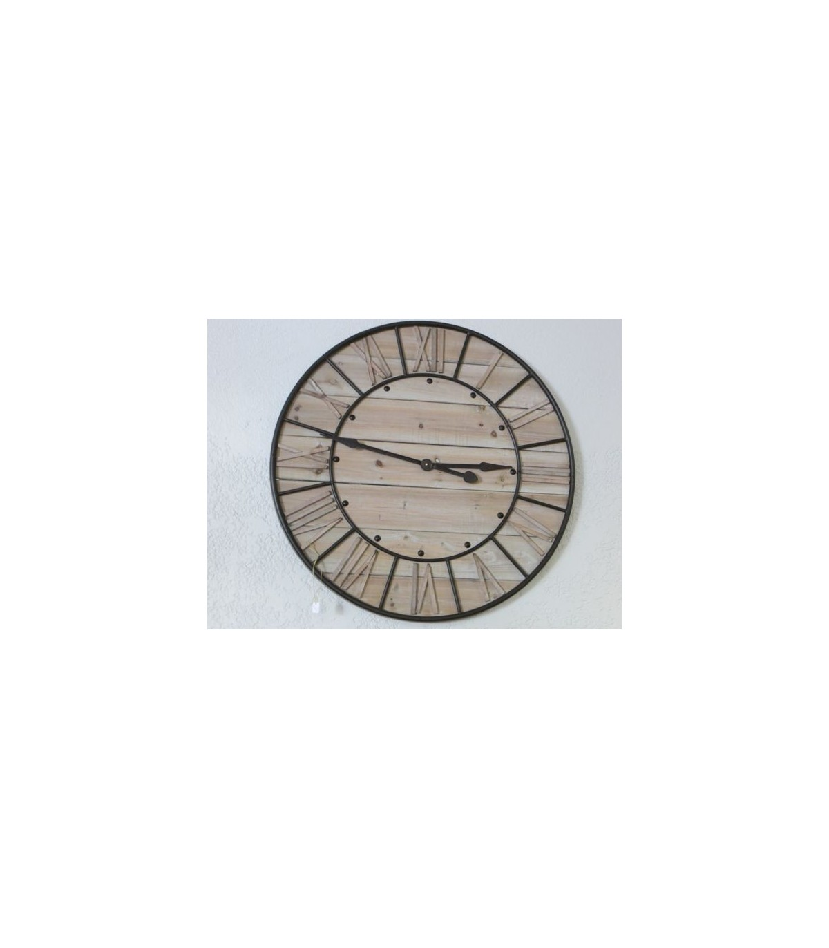 Horloge bois metal for Horloge bois metal